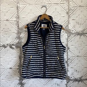 Old Navy Striped fall quilted vest